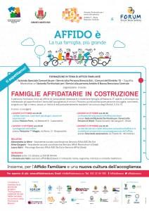 Locandina FAMIGLIE AFFIDATARIE IN COSTRUZIONE OTTOBRE 2016
